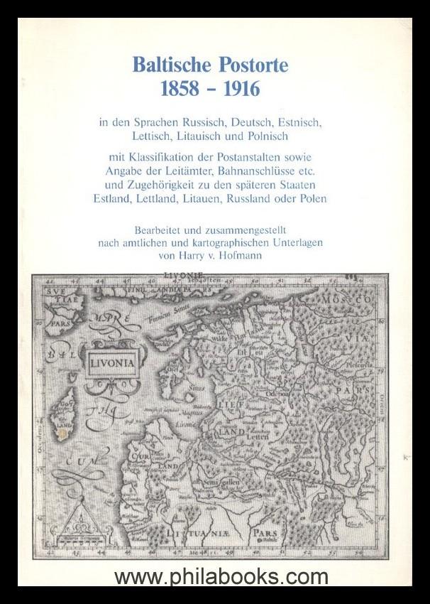 Buchtitel_Hofmann_BAltische_Postorte_1986