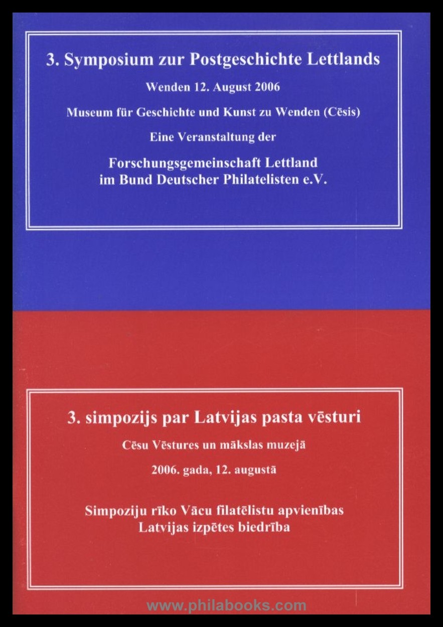 Buchtitel 3. Symposium Lettland
